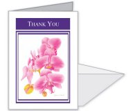Orchid Thank You Card